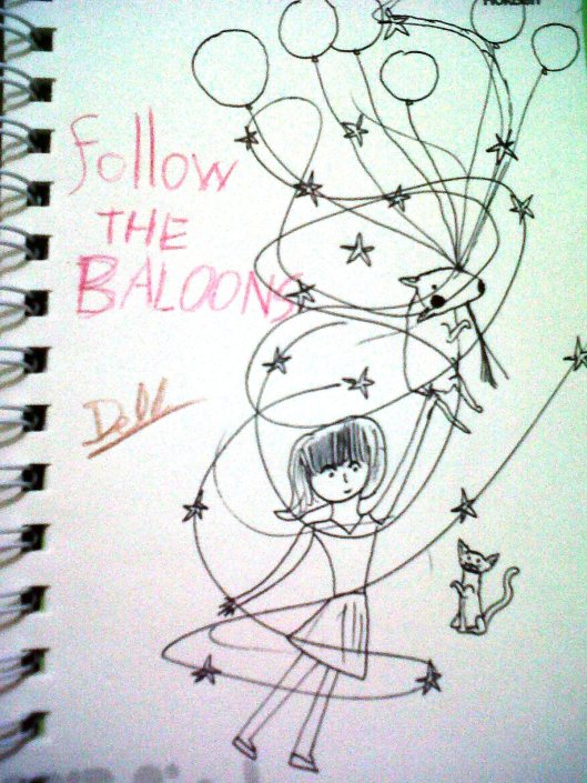 Follow The Balloons 2 (Blind Sketching)