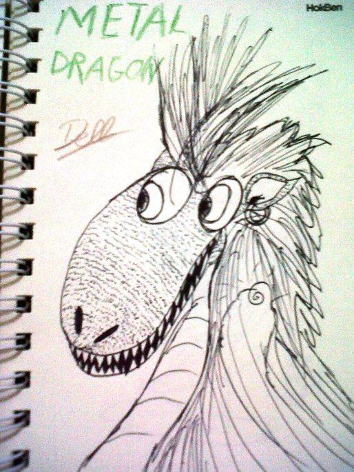Metal Dragon 2 (Blind Sketching)